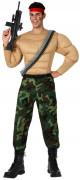 Costume militare muscoloso uomo
