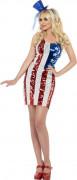 Abito con bandiera americana da donna