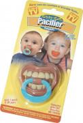 Ciucciotto umoristico denti neonato