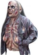 Maschera e busto del corpo zombie donna Halloween
