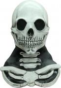 Maschera e busto scheletro adulto Halloween