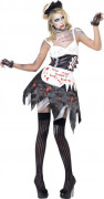 Costume zombie cameriera sexy donna halloween