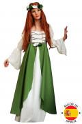 Costume dama medievale irlandese per donna