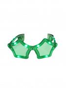 Occhiali luminosi stella verdi adulto