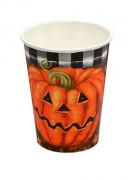 Lotto di 6 bicchierri zucca Halloween