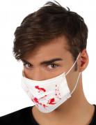 Maschera bianca con macchie di sangue