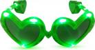 Occhiali cuore verde led luminosi