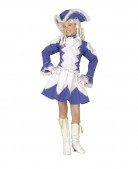Costume majorette bambina blu