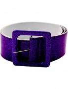Cintura brillante viola adulto