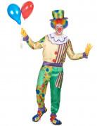Costume clown con colletto uomo