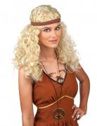 Parrucca hippy bionda donna