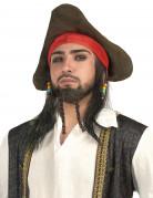 Parrucca pirata con cappello uomo