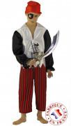 Costume da pirata con benda per bambino