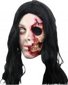 Maschera da donna con il volto strappato Halloween