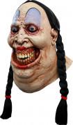 Maschera integrale da terrificante donna forzuta per Halloween