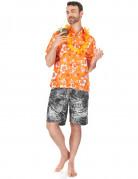 Camicia hawaiana arancione uomo