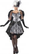 Costume angelo nero e grigio donna Halloween