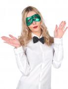 Maschera verde metalizzata adulto