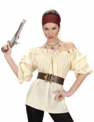 Camicia beige pirata donna