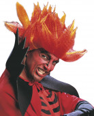 Parrucca diavolo pazzo arancione adulto