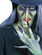 Finte unghie nere adulto Halloween