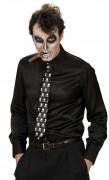 Cravatta con scheletri adulto per Halloween