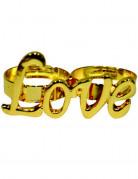 Anello dorato LOVE adulto