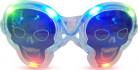 Occhiali luminosi trasparenti teschio