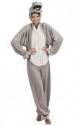 Costume da ippopotamo con cappuccio per adulto