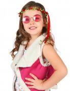 Corona di fiori rossi per bambina