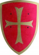 Scudo rosso croce dorata bambino