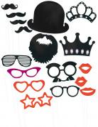 Kit per photo booth baffi e occhiali