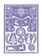 Stencil da trucco riutilizzabile Regno delle nevi Grim Tout