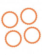 20 adesivi arancioni