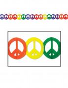 Ghirlanda multicolorePeace and love