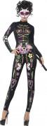 Costume scheletro colorato donna Halloween
