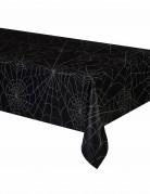 Tovaglia nera con ragnatele Halloween