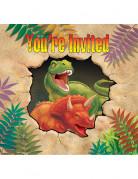 8 Carte di invito compleanno dinosauri