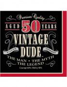 16 Tovaglioli di carta Compleanno vintage 50 Anni
