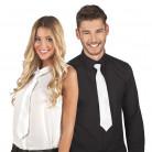 Cravatta bianca con sequins adulto