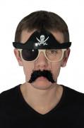 Occhiali pirata con baffi