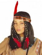 Parrucca da indiana con fascia donna
