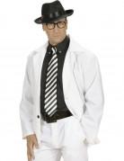 Cravatta a righe bianche e nere adulto