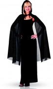 Mantello nero lungo con paillettes