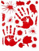 Decorazione adesivo impronte mani sanguinanti