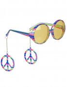 Occhiali colorati da hippie adulto