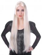 Parrucca lunga bionda donna 75cm