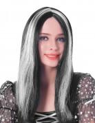 Parrucca da donna vampiro bianca e nera per adulto