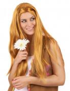 Parrucca hippie lunga rossa