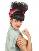 Parrucca rétro con foulard donna